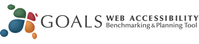 GOALS web accessibility benchmarking and planning tool